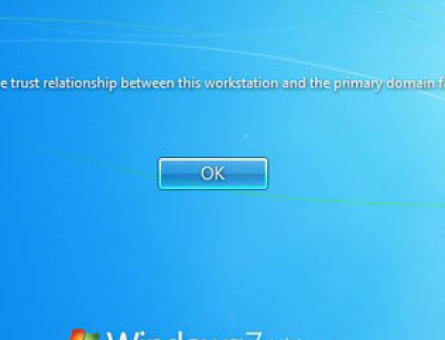 """The trust relationship between this workstation and the primary domain failed"" error when you log in to Windows 7"