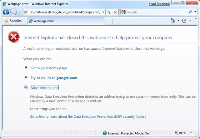 res://ieframe dll/acr_error htm – Business Online Error